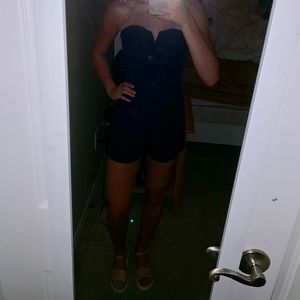 H&M Navy sweetheart romper